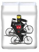 Cycling Recycle Bins Duvet Cover