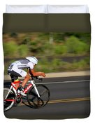 Cycling Time Trial Duvet Cover
