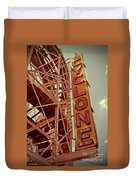 Cyclone Roller Coaster - Coney Island Duvet Cover