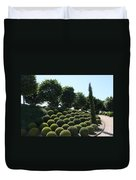 Cypress And Boxwood Garden Duvet Cover
