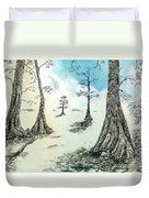 Cypress In Ink Duvet Cover