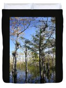 Cypress Swamp Duvet Cover by Rudy Umans