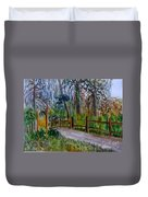 Cypress Trail At Loxahatchee Duvet Cover