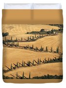 Cypress Tree Lined Road Duvet Cover