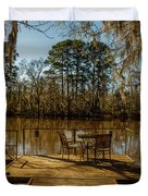 Cypress Trees At Caddo Lake State Park Duvet Cover