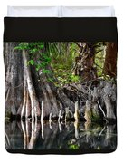 Cypress Trees - Nature's Relics Duvet Cover by Christine Till
