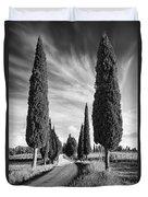 Cypress Trees - Tuscany Duvet Cover