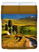 Cypresses Of Toscany Duvet Cover