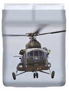 Czech Air Force Mi-171 Hip Helicopter Duvet Cover