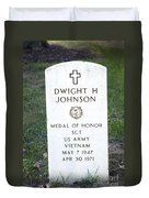 D. H. Johnson - Medal Of Honor Duvet Cover