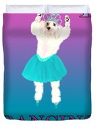 D Is For Dancing Dog Duvet Cover