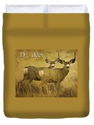 D Is For Deer Duvet Cover