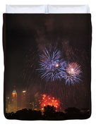 D21l163 Red White And Boom Photo Duvet Cover