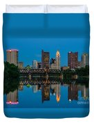 D2l64 Columbus Ohio Skyline Duvet Cover
