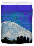 Da Mountain Cubed 1 Duvet Cover