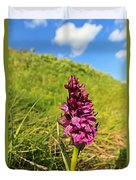 Dactylorhiza Orchid Duvet Cover