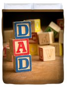 Dad - Alphabet Blocks Fathers Day Duvet Cover
