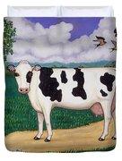 Dad's Prize Milk Cow Duvet Cover