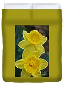 Daffodil Duet By Jrr Duvet Cover