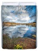 Daffodil Lake Duvet Cover by Adrian Evans