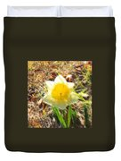 Daffodil Under Water Duvet Cover