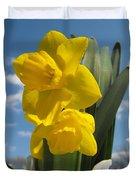 Daffodills In Spring Duvet Cover