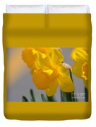 Daffodils In The Setting Sun Duvet Cover