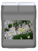 Daffodils On The Shore Duvet Cover