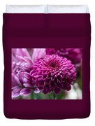 Dahlia And Mums Duvet Cover
