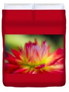 Dahlia Color Explosion Duvet Cover