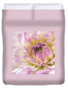 Dahlia Delight Square  Duvet Cover