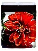 Dahlia Expressive Brushstrokes Duvet Cover