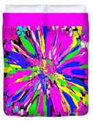 Dahlia Flower Abstract #1 Duvet Cover