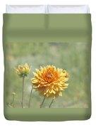 Dahlia Flowers Duvet Cover
