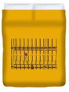 Dahlia In Yellow Gate Duvet Cover