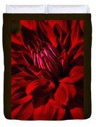 Dahlia Red Duvet Cover