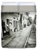 Daily Life In Hanoi Duvet Cover