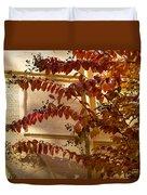 Dainty Branches - Warm Autumn Colors - Washington D C Facades Duvet Cover
