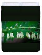 Dainty White Flowers Central Park Duvet Cover