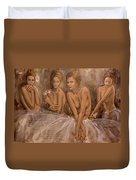 Daisies And Doubts Duvet Cover