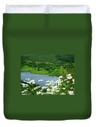 White Daisies At Queens View Duvet Cover