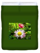 Daisies In Januray Duvet Cover