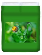 Daisy Bud Ready To Bloom Duvet Cover