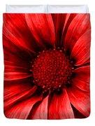 Daisy Daisy Neon Red Duvet Cover