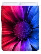 Daisy Daisy Red To Blue Duvet Cover