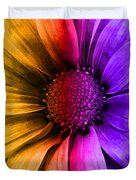 Daisy Daisy Yellow To Purple Duvet Cover