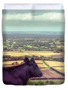 Daisy Enjoys The View From Truleigh Hill Duvet Cover