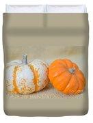 Daisy Gourd And Pumpkin Duvet Cover