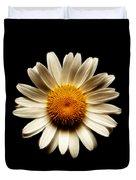 Daisy On Black Square Fractal Duvet Cover