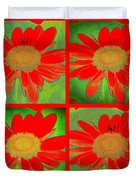 Daisy Perspective Collage Duvet Cover